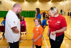 Worcestershire Mini-Olympics welcomes national hero