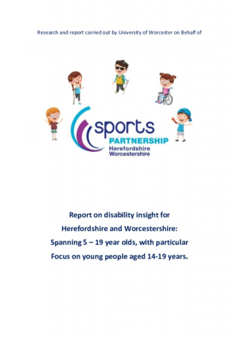 Report on disability insight for Herefordshire and Worcestershire